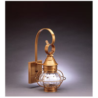 Northeast Lantern Onion 1 Light Outdoor Wall Lantern in Antique Brass 2511-AB-MED-OPT