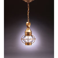 Northeast Lantern Onion 1 Light Hanging Lantern in Antique Brass 2512-AB-MED-CLR