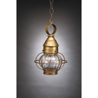 Northeast Lantern Onion 1 Light Hanging Lantern in Antique Brass 2512-AB-MED-OPT