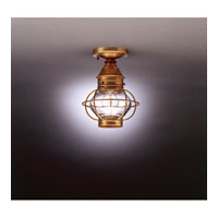 Onion 1 Light 8 inch Antique Brass Flush Mount Ceiling Light in Clear Glass