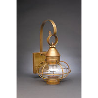 Northeast Lantern Onion 1 Light Outdoor Wall Lantern in Antique Brass 2521-AB-MED-CLR