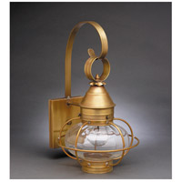 Northeast Lantern Onion 1 Light Outdoor Wall Lantern in Antique Brass 2521-AB-MED-OPT