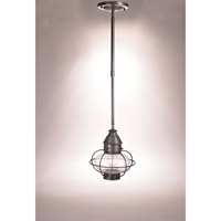 Northeast Lantern Onion 1 Light Pendant in Dark Brass 2522-DB-MED-CSG-AP10