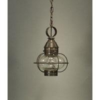 Northeast Lantern 2522-DB-MED-OPT Onion 1 Light 9 inch Dark Brass Hanging Lantern Ceiling Light Optic Glass