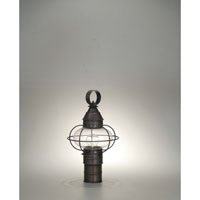 Onion 1 Light 16 inch Dark Brass Post Lantern in Clear Glass
