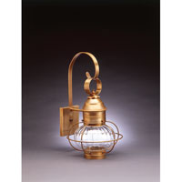 Northeast Lantern Onion 1 Light Outdoor Wall Lantern in Antique Brass 2531-AB-MED-OPT