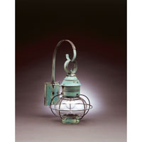 Northeast Lantern 2531-VG-MED-CLR Onion 1 Light 19 inch Verdi Gris Outdoor Wall Lantern in Clear Glass, Standard Scroll photo thumbnail