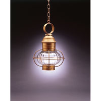 Northeast Lantern 2532-AB-MED-OPT Onion 1 Light 11 inch Antique Brass Hanging Lantern Ceiling Light in Optic Glass photo thumbnail