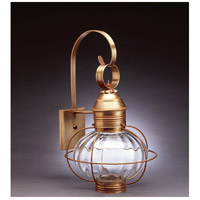 Onion 1 Light 21 inch Antique Brass Outdoor Wall Lantern in Optic Glass, Standard Scroll, Medium