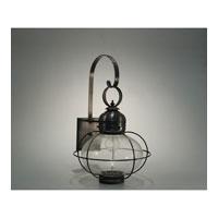 Northeast Lantern 2541G-DB-MED-CSG Onion 1 Light 21 inch Dark Brass Outdoor Wall Lantern in Clear Seedy Glass, Standard Scroll, Medium