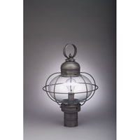 Northeast Lantern Onion 1 Light Post in Dark Brass 2543G-DB-MED-CLR