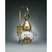 Onion 2 Light 25 inch Antique Brass Outdoor Wall Lantern in Optic Glass, Candelabra
