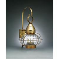 Northeast Lantern 2571-AB-LT2-OPT Onion 2 Light 25 inch Antique Brass Outdoor Wall Lantern in Optic Glass, Candelabra
