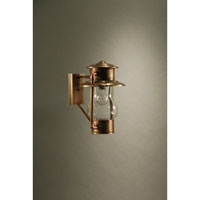 Northeast Lantern Railroad 1 Light Outdoor Wall Lantern in Antique Brass 2621-AB-MED-CLR