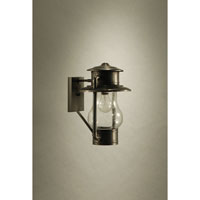 Northeast Lantern 2621-DB-MED-CSG Railroad 1 Light 14 inch Dark Brass Outdoor Wall Lantern in Clear Seedy Glass thumb