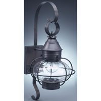 Northeast Lantern  Caged Onion Wall Dark Brass Medium Base Socket Optic Glass Extended Scroll 2521-DB-MED-OPT-EXT thumb