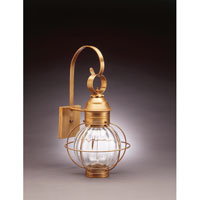 Northeast Lantern 2831-AB-MED-OPT Onion 1 Light 23 inch Antique Brass Outdoor Wall Lantern in Optic Glass