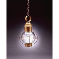 Northeast Lantern 2832-AB-MED-CLR Onion 1 Light 12 inch Antique Brass Hanging Lantern Ceiling Light in Clear Glass