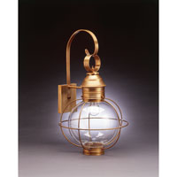 Onion 1 Light 24 inch Antique Brass Outdoor Wall Lantern in Clear Glass, Medium