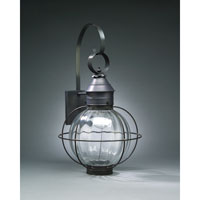 Northeast Lantern 2841-DB-MED-OPT Onion 1 Light 24 inch Dark Brass Outdoor Wall Lantern in Optic Glass, Medium thumb