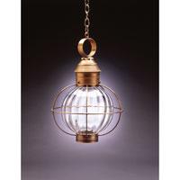 Northeast Lantern 2842-AB-MED-OPT Onion 1 Light 13 inch Antique Brass Hanging Lantern Ceiling Light in Optic Glass