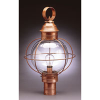 Northeast Lantern Onion 1 Light Post in Antique Brass 2843-AB-MED-CLR