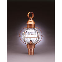 Northeast Lantern Onion 1 Light Post in Antique Brass 2843-AB-MED-OPT