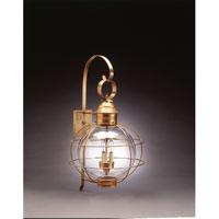 Northeast Lantern 2851-AB-LT3-CLR Onion 3 Light 28 inch Antique Brass Outdoor Wall Lantern in Clear Glass, Candelabra