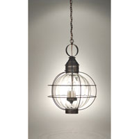 Northeast Lantern Onion 3 Light Hanging Lantern in Dark Brass 2852-DB-LT3-OPT