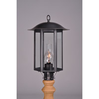 Northeast Lantern Aurora 1 Light Post Mount in Dark Brass 3233-DB-CIM-CLR
