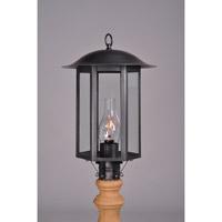 Northeast Lantern Aurora 1 Light Post Mount in Dark Brass 3233-DB-CIM-CLR