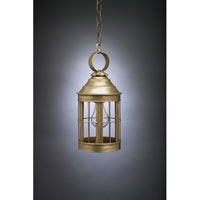 Northeast Lantern Heal 1 Light Hanging Lantern in Antique Brass 3312-AB-MED-CLR