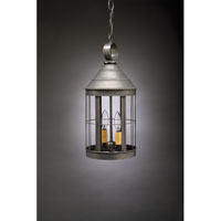 Heal 2 Light 8 inch Dark Brass Hanging Lantern Ceiling Light in Clear Glass, Candelabra