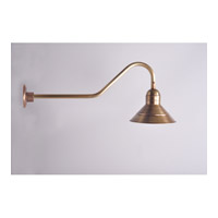Northeast Lantern Barn 1 Light Wall Sconce in Antique Brass 3426-AB-MED