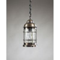 Northeast Lantern 3512-DB-MED-CSG Nautical 1 Light 6 inch Dark Brass Hanging Lantern Ceiling Light in Clear Seedy Glass
