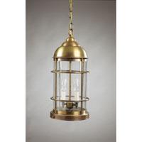 Northeast Lantern 3532-AB-LT2-CSG Nautical 2 Light 8 inch Antique Brass Hanging Lantern Ceiling Light in Clear Seedy Glass