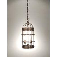 Northeast Lantern 3542-DAB-LT2-CLR Signature 2 Light 8 inch Dark Antique Brass Chandelier Ceiling Light in Clear Glass