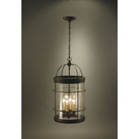 Northeast Lantern 3562-DB-LT4-CSG Signature 4 Light 13 inch Dark Brass Chandelier Ceiling Light in Clear Seedy Glass photo thumbnail