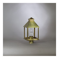 Northeast Lantern Cambridge 1 Light Post Lantern in Raw Brass 3733-RB-CIM-CLR