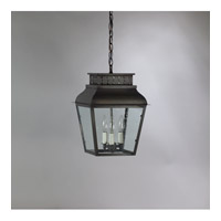 Andrews 3 Light 11 inch Dark Brass Hanging Lantern Ceiling Light in Clear Seedy Glass, Candelabra