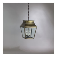Andrews 3 Light 12 inch Dark Antique Brass Hanging Lantern Ceiling Light in Clear Seedy Glass, Candelabra