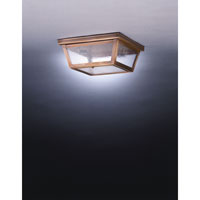 Williams 2 Light 11 inch Dark Antique Brass Flush Mount Ceiling Light in Seedy Marine Glass
