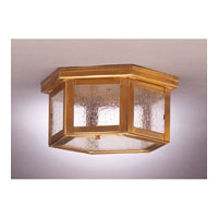 Williams 1 Light 11 inch Antique Brass Flush Mount Ceiling Light in Seedy Marine Glass