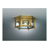 Williams 1 Light 11 inch Antique Brass Flush Mount Ceiling Light in Clear Seedy Glass