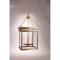 Elryan 4 Light 12 inch Antique Brass Pendant Ceiling Light in Clear Seedy Glass