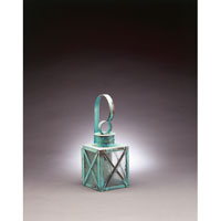 Suffolk 1 Light 14 inch Verdi Gris Outdoor Wall Lantern in Seedy Marine Glass
