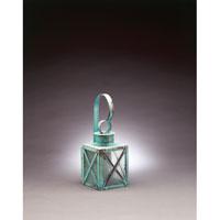 Northeast Lantern 5011-VG-MED-SMG Suffolk 1 Light 14 inch Verdi Gris Outdoor Wall Lantern in Seedy Marine Glass
