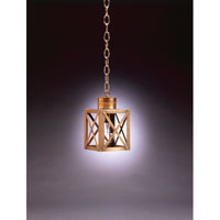 Northeast Lantern Suffolk 1 Light Hanging Lantern in Antique Brass 5012-AB-MED-CLR