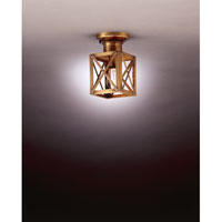 Northeast Lantern Suffolk 1 Light Flush Mount in Antique Brass 5014-AB-MED-CLR