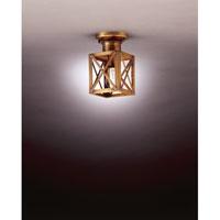 Northeast Lantern Suffolk 1 Light Flush Mount in Antique Brass 5014-AB-MED-CLR photo thumbnail